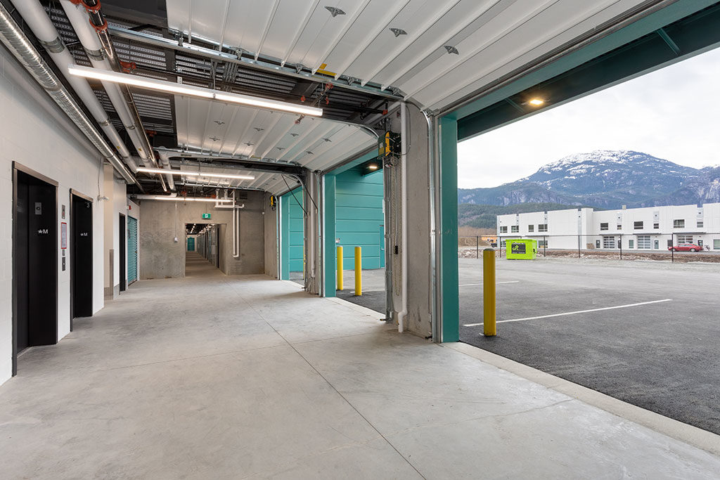 squamish self storage facilities large loading bay
