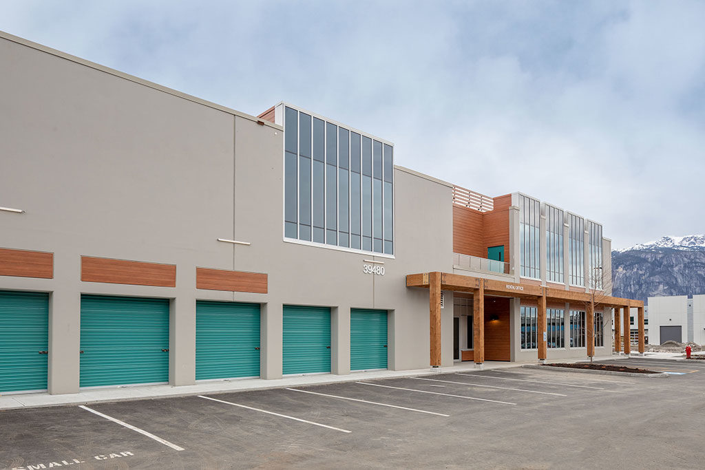 squamish self storage facilities climate controlled units exterior