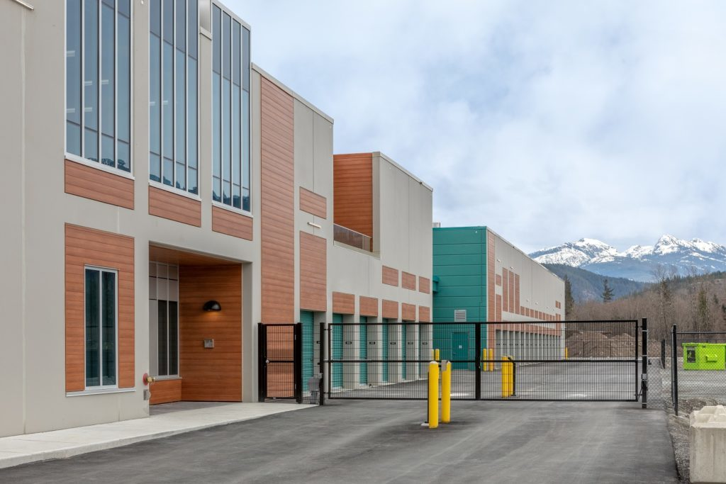 secure self storage exterior gate 1 at Squamish Self Storage