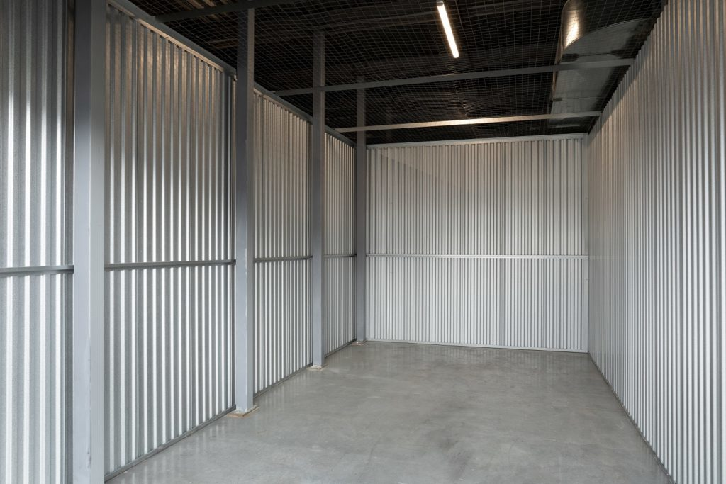 inside the smaller size exterior locker at Squamish Self Storage secures self storage